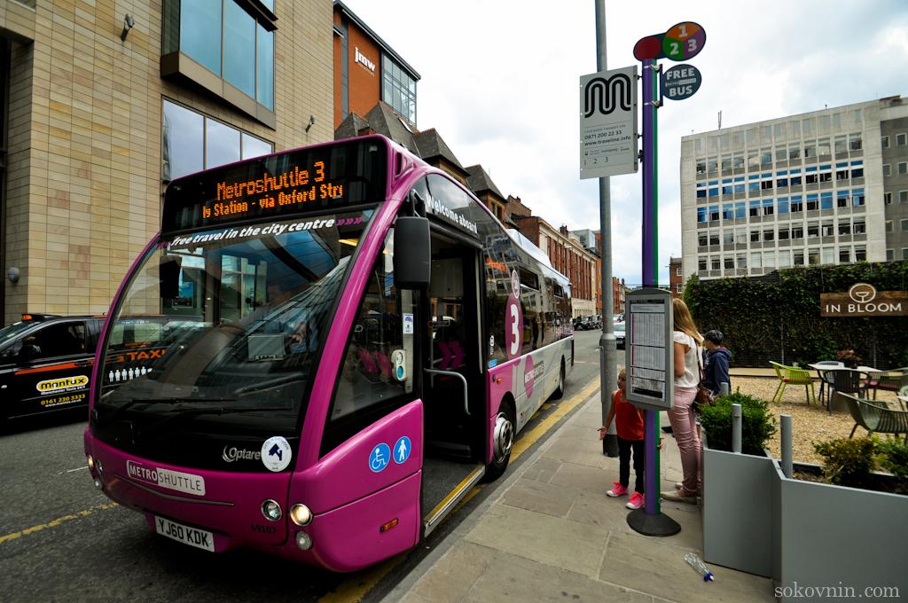 Бесплатный автобус в Манчестере