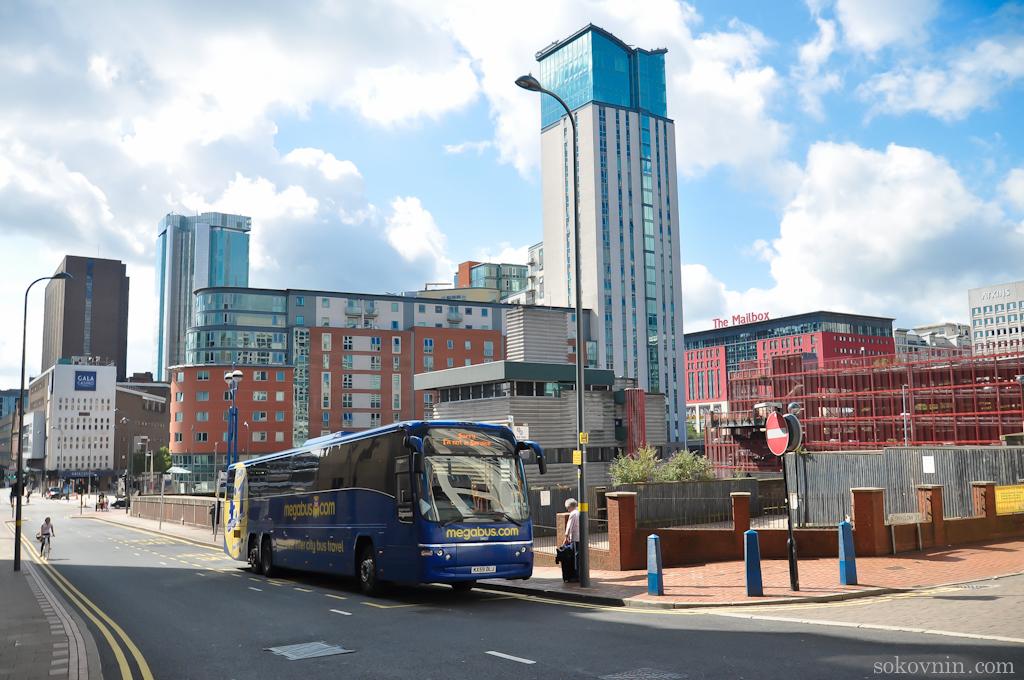 Автобус Megabus из Бирмингема в Лондон