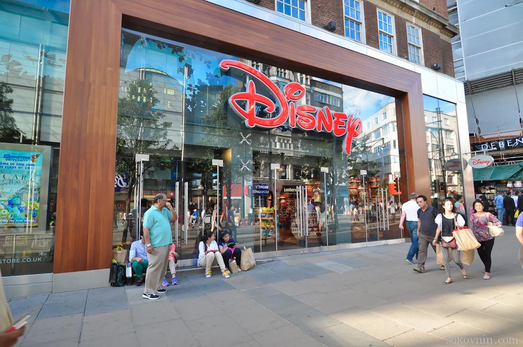 Магазин Disney в Лондоне