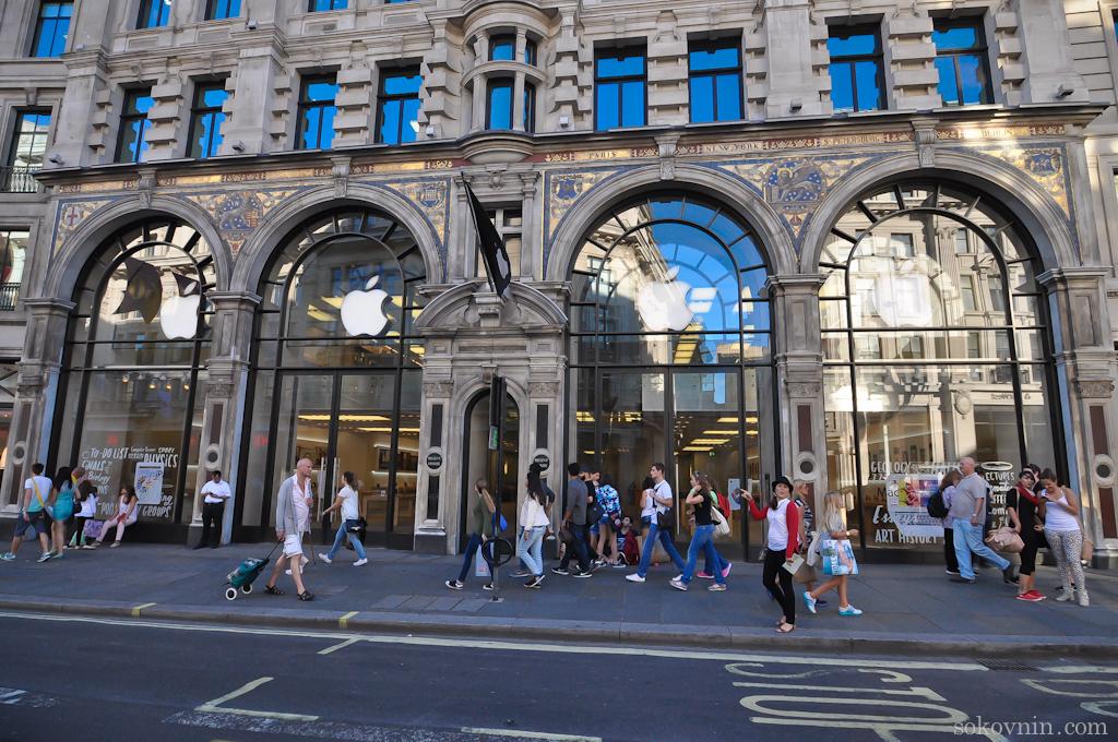Официальный магазин Apple в Лондоне