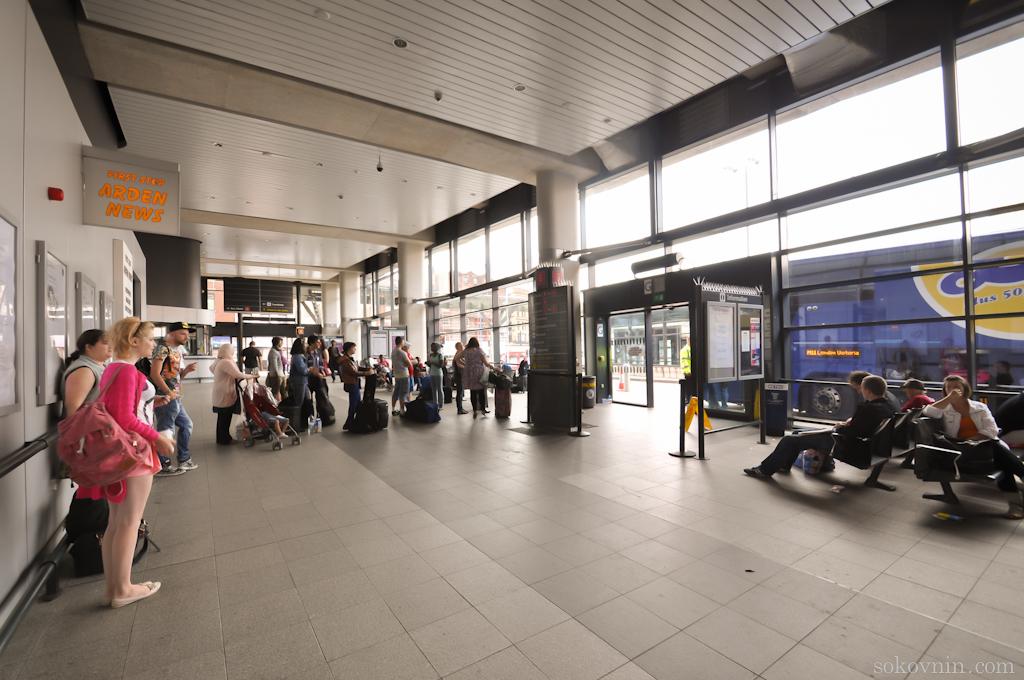 Автобусная станция в Манчестере