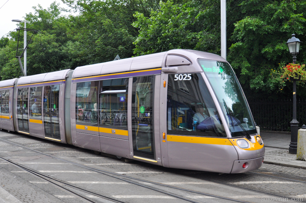 Современные трамваи в Дублине