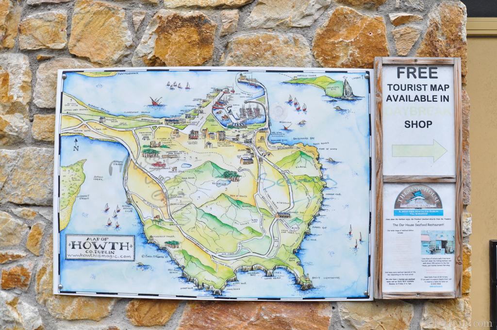 Карта города Howth