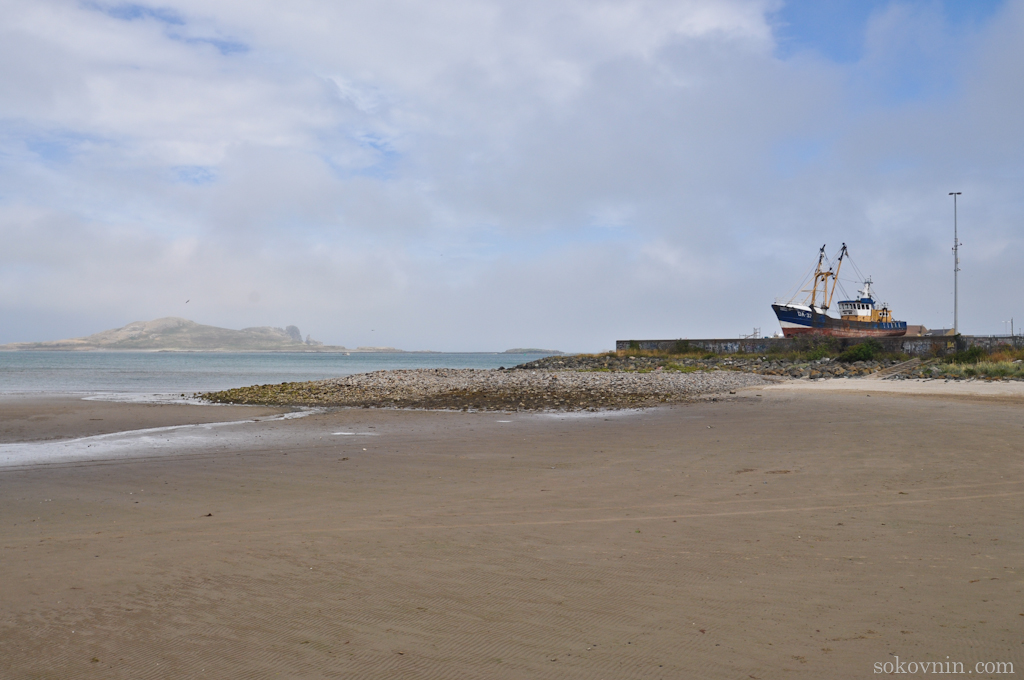 Пляж в городе Howth