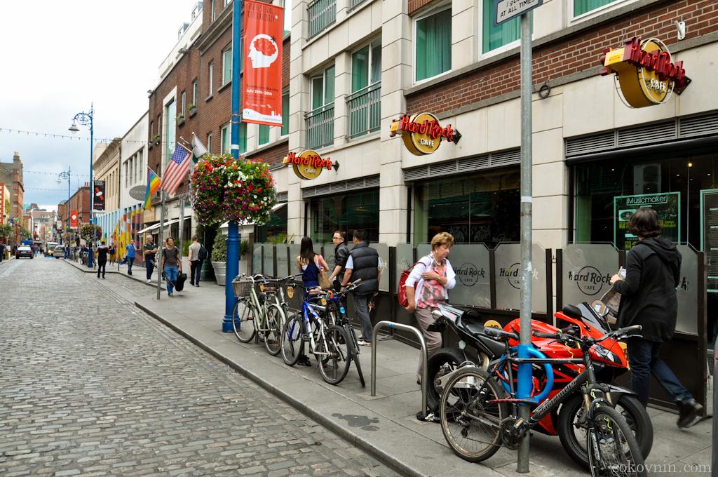 Хардрок кафе в Дублине в районе Temple Bar