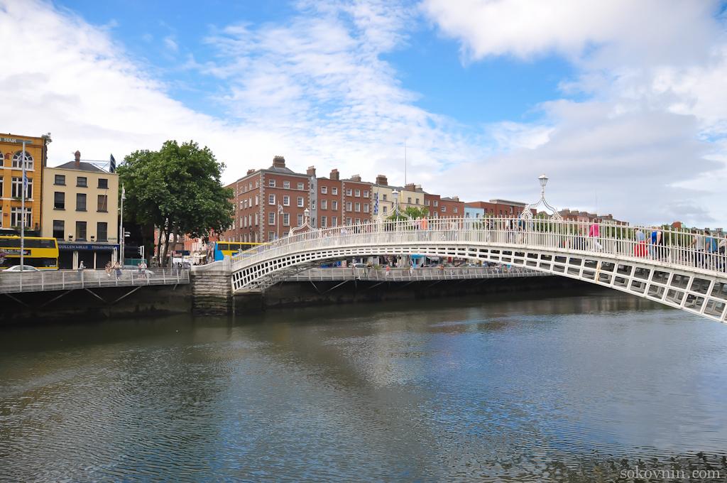 Пешеходный мост в Дублине