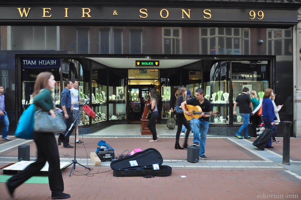 Музыканты на улицах Дублина