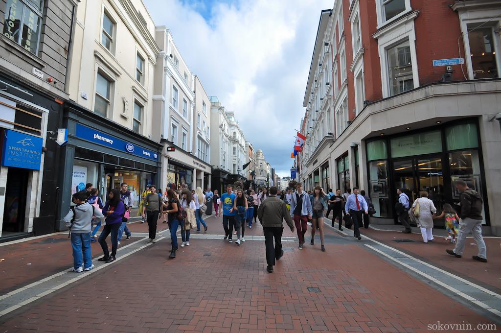 Пешеходные улицы Дублина