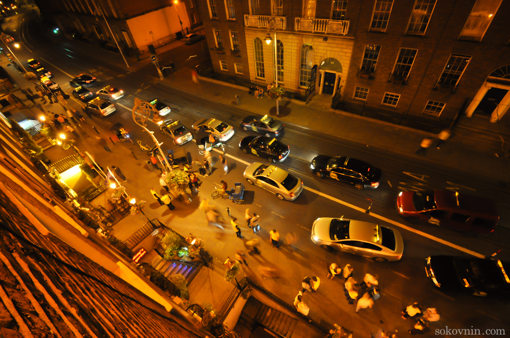 Ночные гуляния в Дублине
