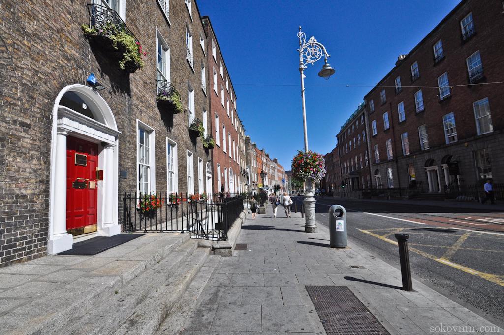 Тихие улицы в Дублине