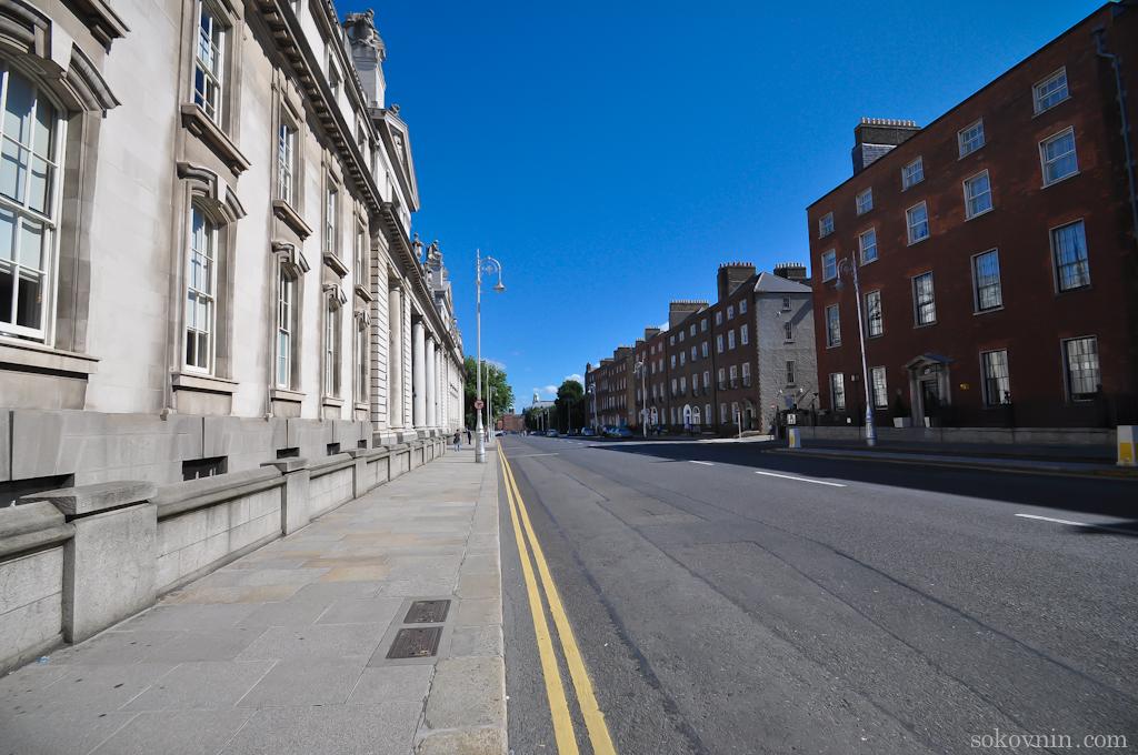 В Дублине пустые улицы