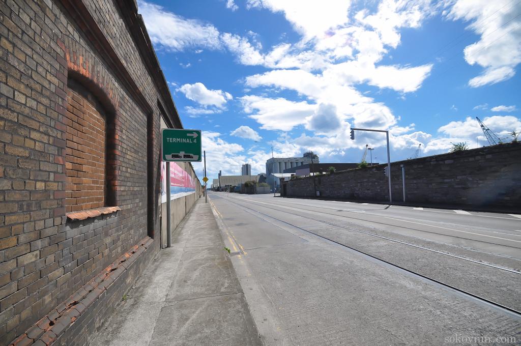 Дорога к набережной Дублина