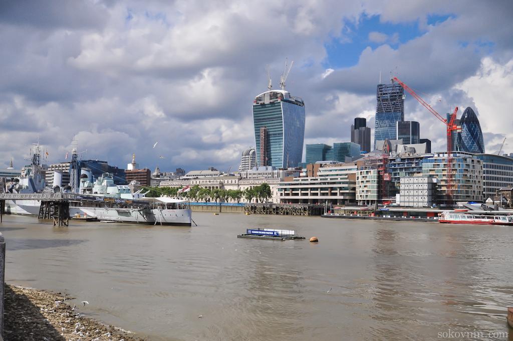 Современные постройки в Лондоне
