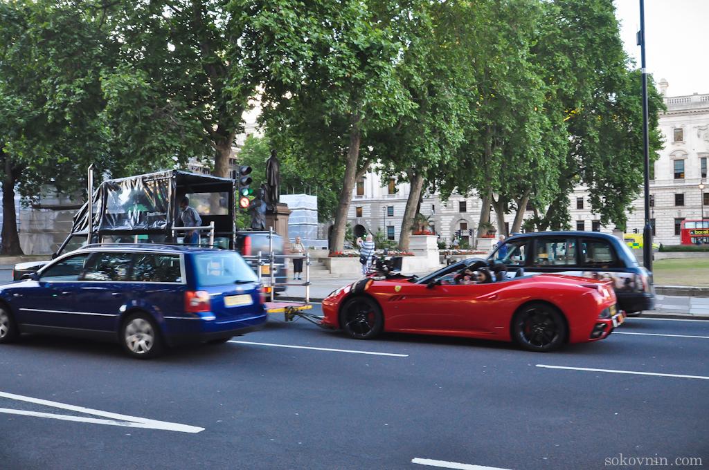 Съёмка фильма в Лондоне