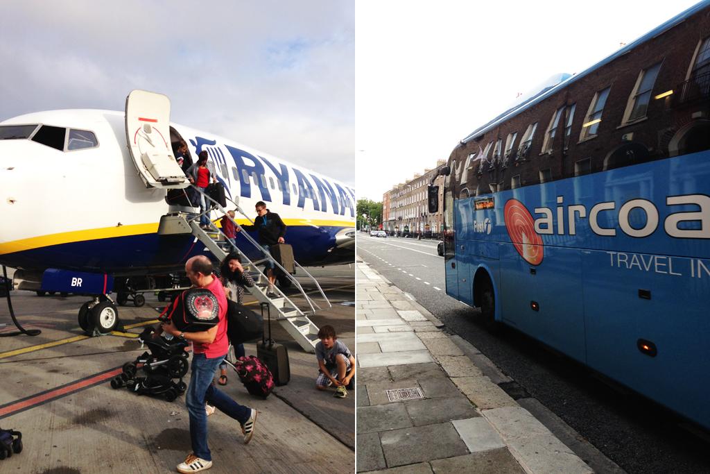 Самолёт Ryanair и автобус Aircoach