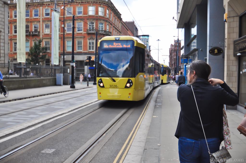 Трамвай в Манчестере