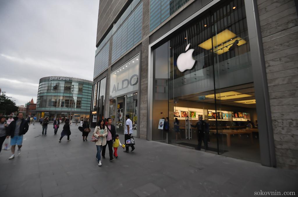 Магазин Apple в Ливерпуле