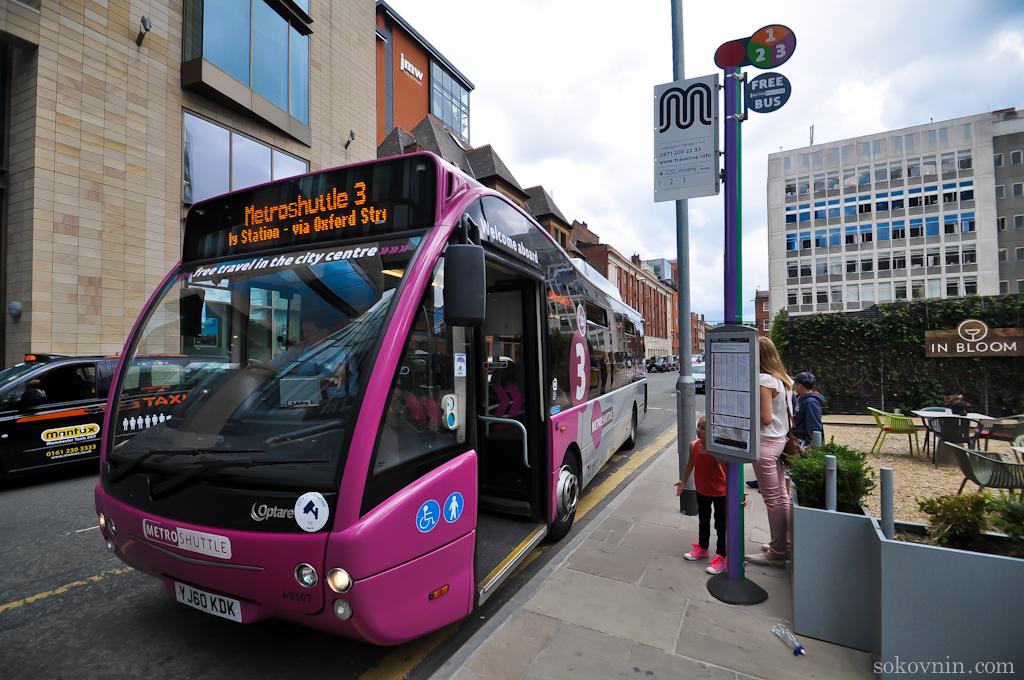 Бесплатные автобусы в Манчестере