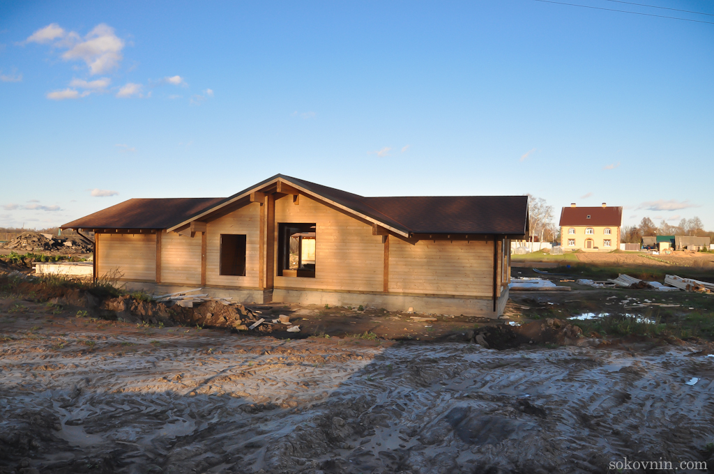 Строительство домиков в Лафер