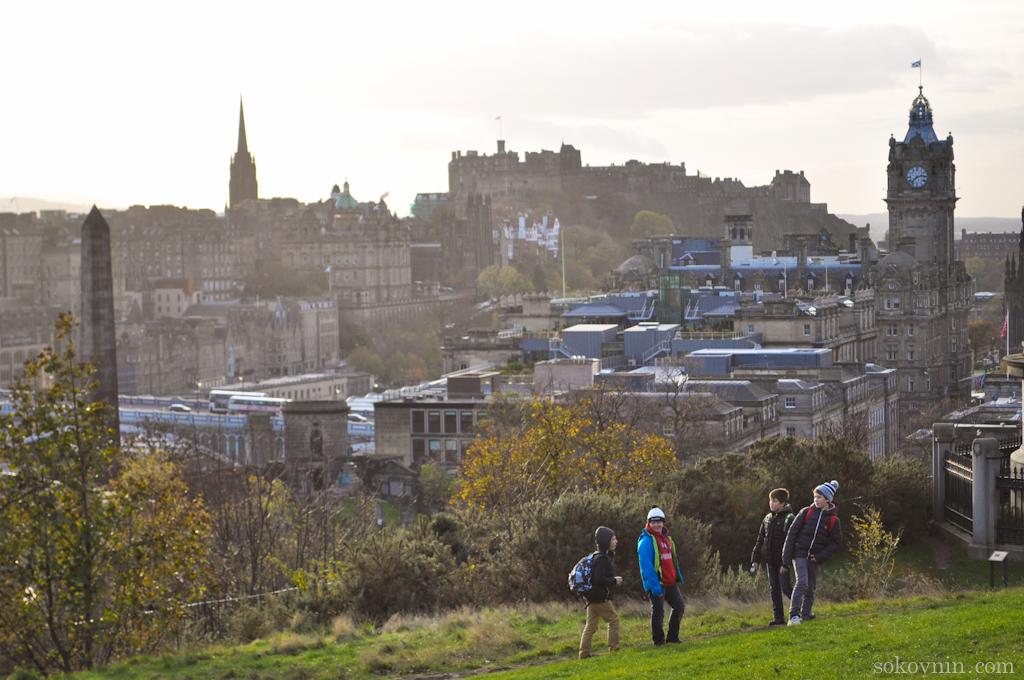 Вид на Эдинбург с холма Калтон Хилл