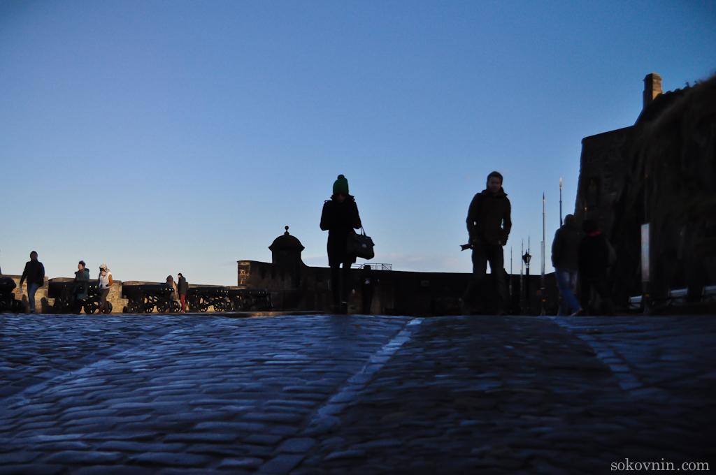 В замке Эдинбурга