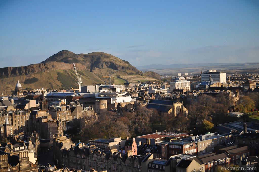 Классный вид на Эдинбург