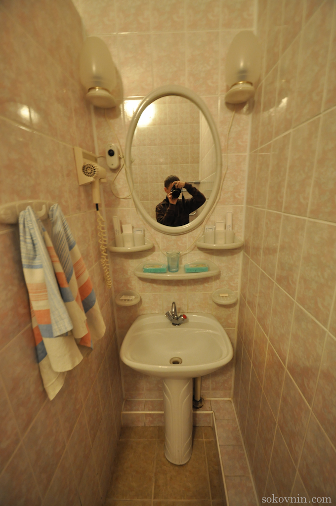 Ванная комната в гостинице
