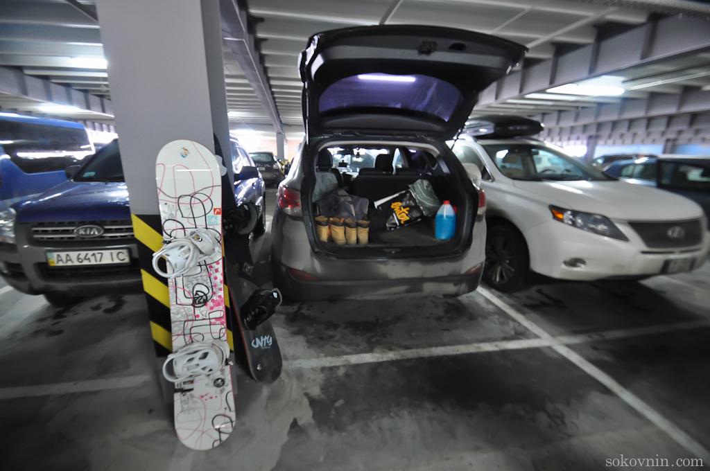 Бесплатный паркинг в Буковеле