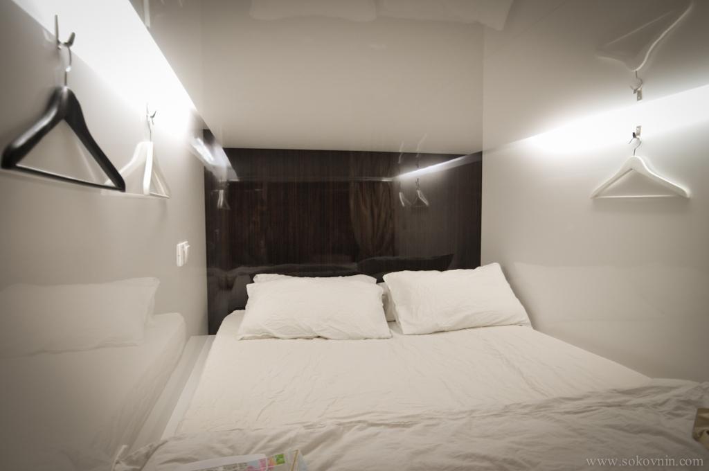 Двухместная капсула в хостеле