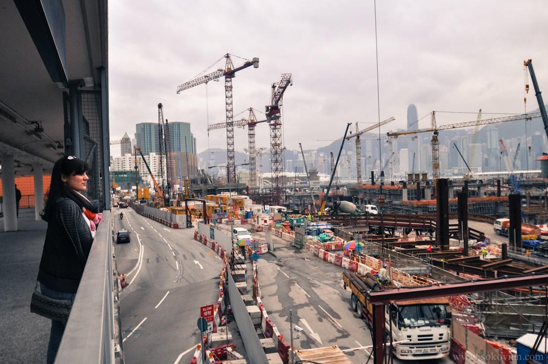 Большая стройка в Гонконге