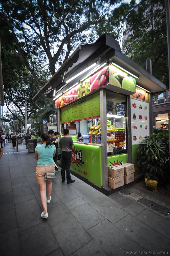 Свежевыжатые соки в Сингапуре