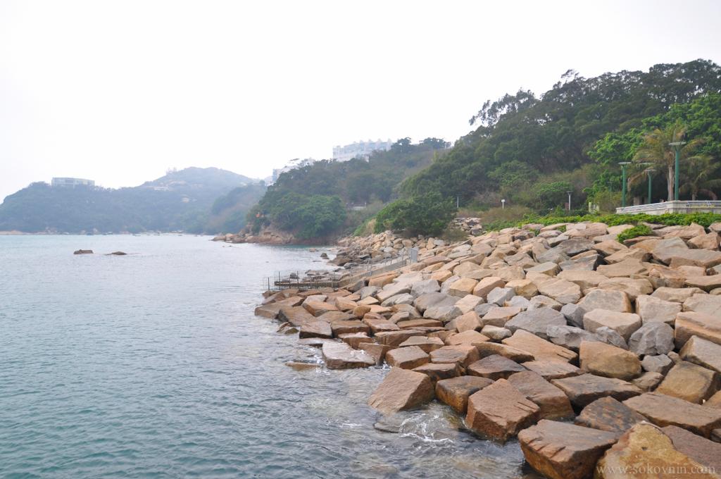Залив в районе Стэнли в Гонконге