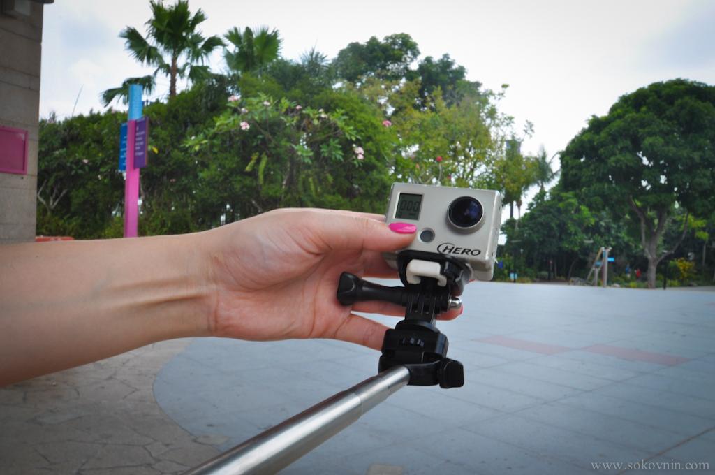 Вика снимает на GoPro