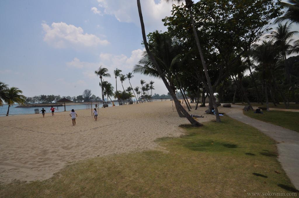 Остров Сентоза Пляж
