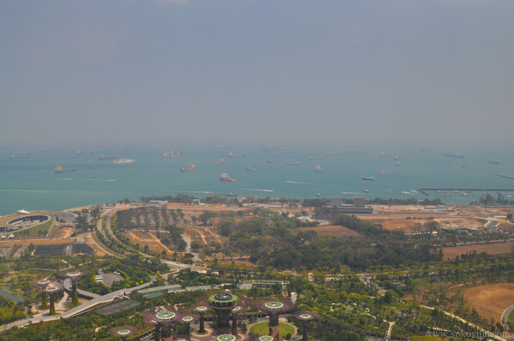 Классный вид на Сингапур