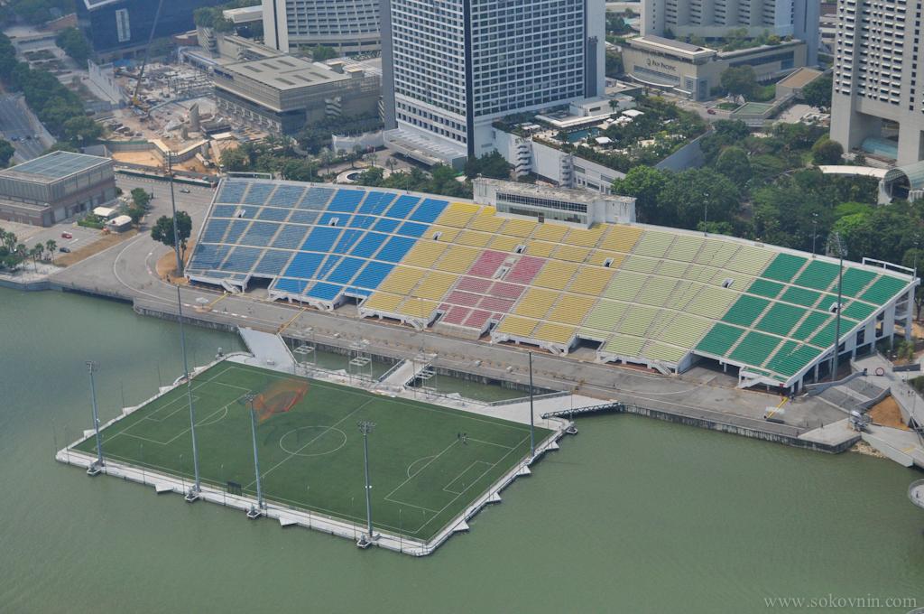 Единственный в мире стадион на воде в Сингапуре