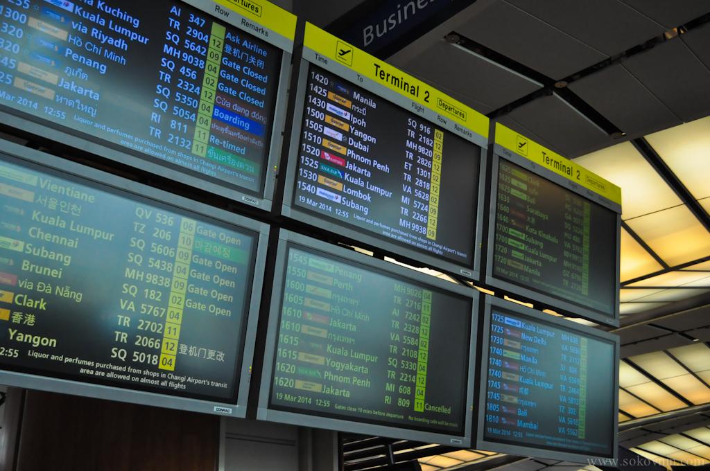 Табло рейсов в аэропорту
