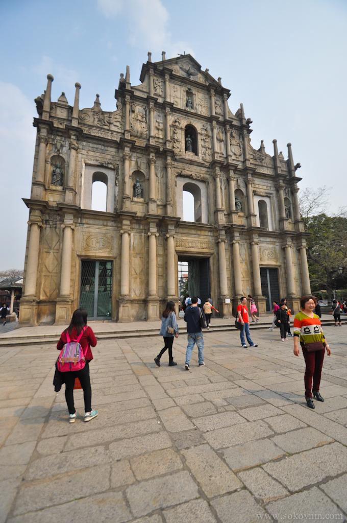 Достопримечательность Макао - руины собора Святого Павла
