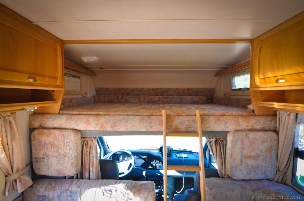 Наша кровать в автодоме
