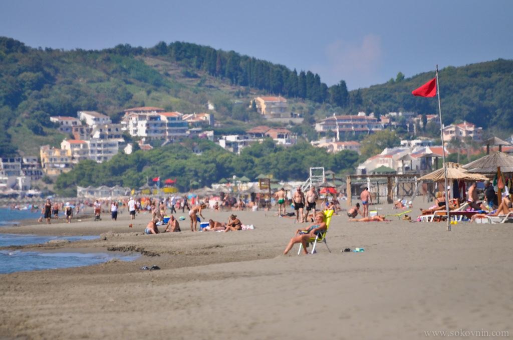 Пляж в Улицине