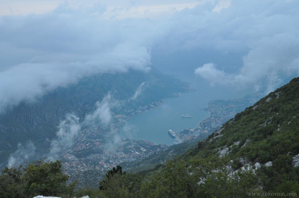 Вид на Котор с горы