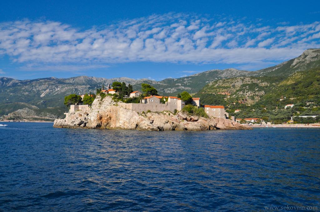 Вид на остров Святой Стефан