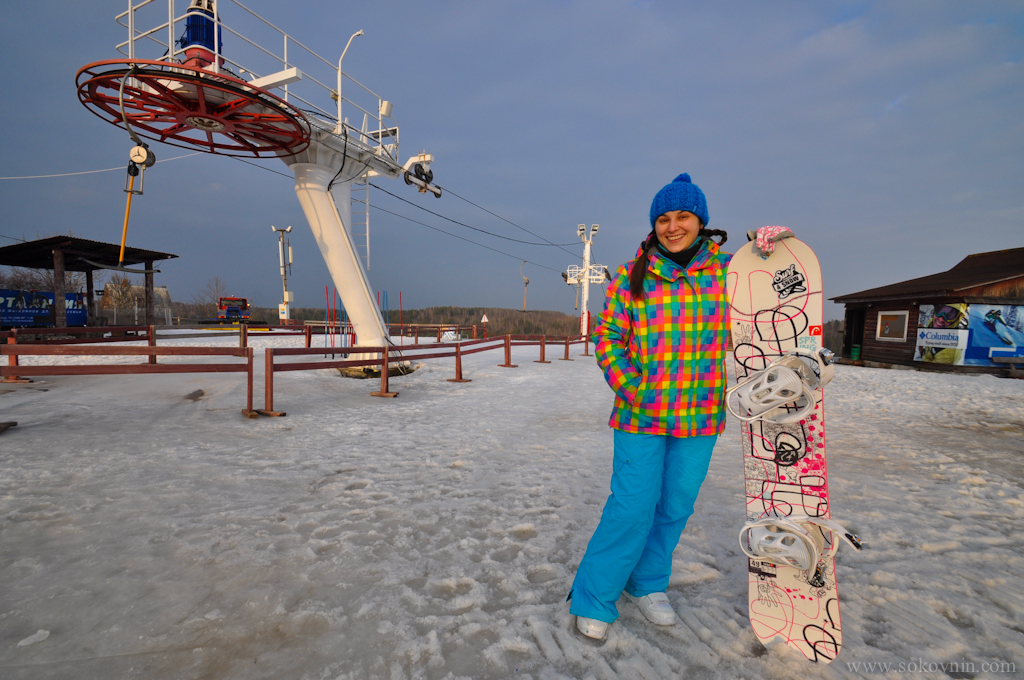 Вика со сноубордом