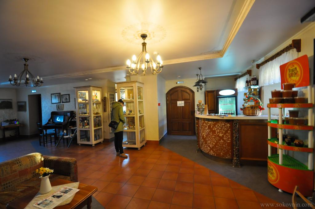 Ресепшн в отеле Изборск