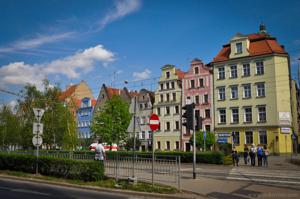 Город Врослав в Польше