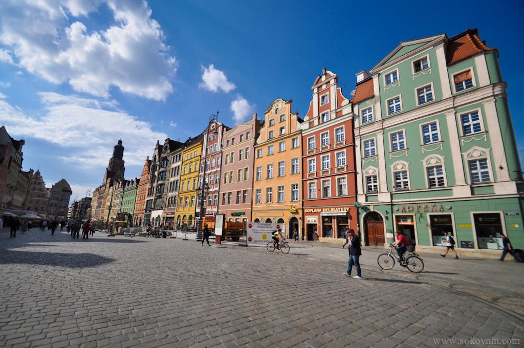 Красивые домики в польском Врославе