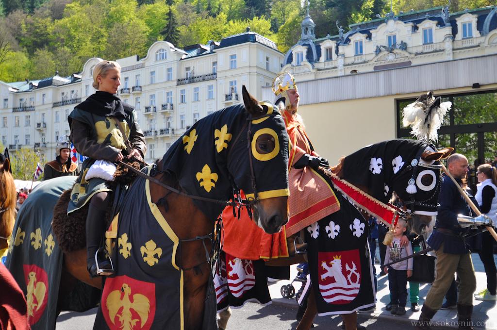 Парад рыцарей в Карловых варах