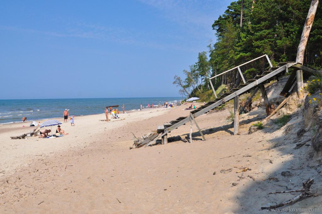 Дикий пляж в Литве