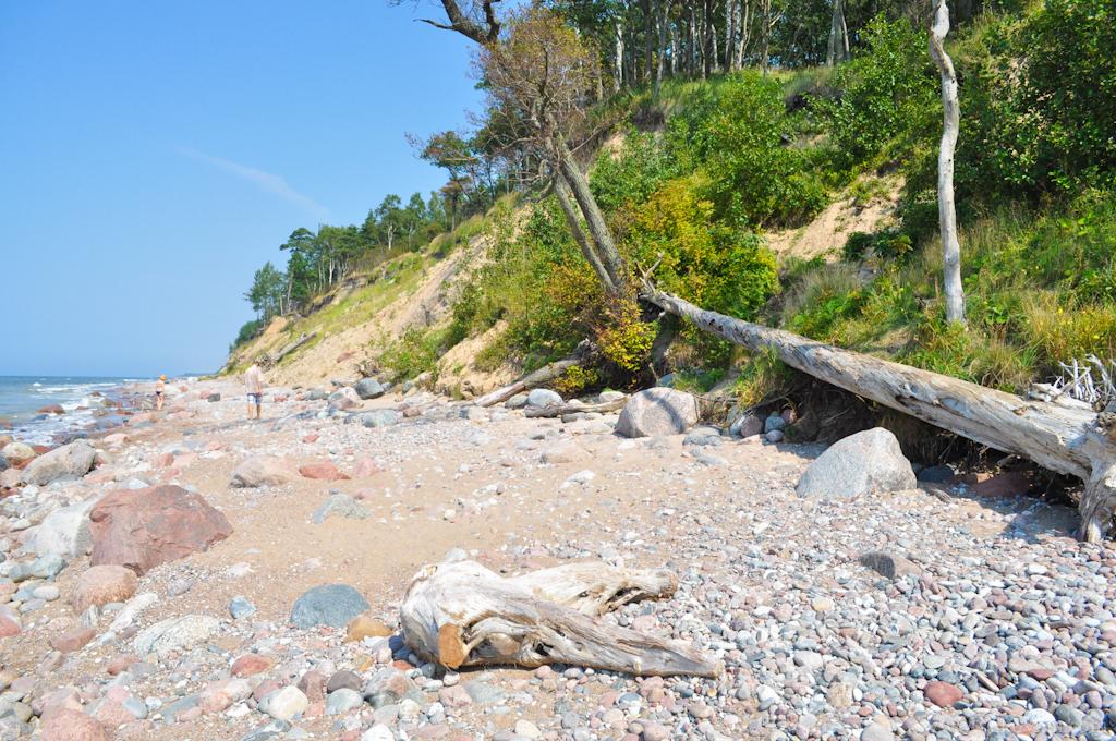 Каменистый берег недалеко от Паланги