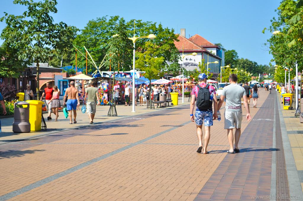 Улица Басанавичуса в Паланге